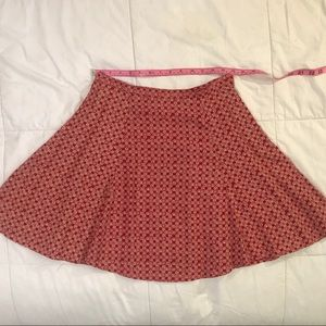 Vintage Ann Taylor Red & White Sun Midi Skirt